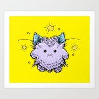 Kitty Fairy fluff Art Print