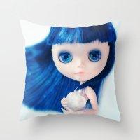 Ice Heart Throw Pillow
