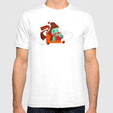 Hot Cocoa White SMALL Mens Fitted Tee