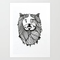 Lion 2 Sketch Art Print