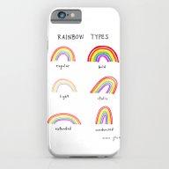 Rainbow Types iPhone 6 Slim Case