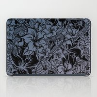 Snaky Fleur, Blue Fade iPad Case