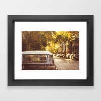 Autumn Streets Framed Art Print
