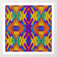 Colorful Geometry Art Print