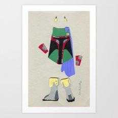 Boba Fett Outfit Art Print