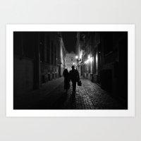 Brussels, A Night Walk I… Art Print