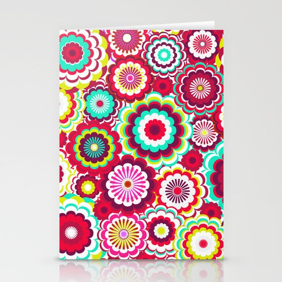 Bright Flower Dash Stationery Card