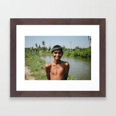 Out for a Swim Framed Art Print