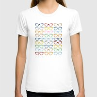 Glasses #2 Womens Fitted Tee White SMALL