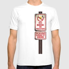 No Beer in Heaven White Mens Fitted Tee SMALL