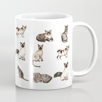 For cat lovers - watercolor of different cat breeds Mug