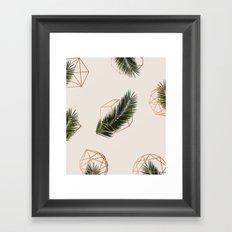 Palm + Geometry #society6 Decor #buyart Framed Art Print