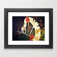 I Hate What I Am Framed Art Print