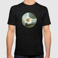 One Rainy Day, A Daisy..… Mens Fitted Tee Tri-Black SMALL