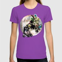 Life in a Cage Womens Fitted Tee Ultraviolet SMALL