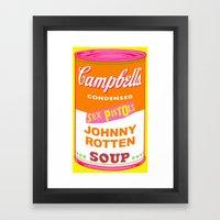 Johnny Rotten Sex Pistol… Framed Art Print