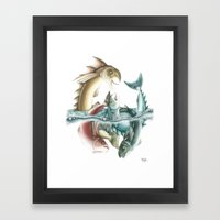 INKYFISH - Fish frenzy Framed Art Print