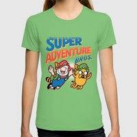 Super Adventure Bros Womens Fitted Tee Grass SMALL
