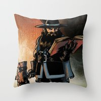 The Dwarven Cleric Throw Pillow