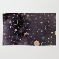 Rug featuring Constellations  by Nikkistrange