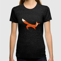 Origami Fox Womens Fitted Tee Tri-Black SMALL