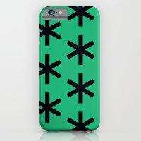 Vondel Black On Green Pa… iPhone 6 Slim Case