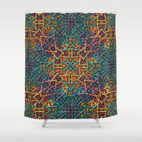Colorful Fractal Pattern Shower Curtain