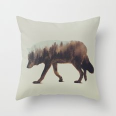 Norwegian Woods: The Wol… Throw Pillow