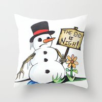 optimist  Throw Pillow