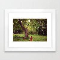 Polaroid Tree Framed Art Print