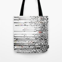 Black And White Noise Tote Bag