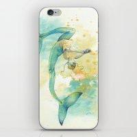 Two-tailed Mermaid iPhone & iPod Skin
