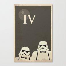 Star Wars Minimal Movie Poster Canvas Print