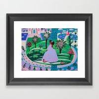 Lady Giggle Framed Art Print