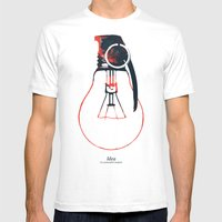 Idea Bomb (2) Mens Fitted Tee White SMALL
