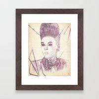Shattering The Mold - Janelle Monae Framed Art Print