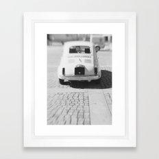 fiat 500 car - hers Framed Art Print
