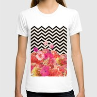 collage T-shirts featuring Chevron Flora II by Bianca Green