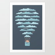 Art Print featuring Weather Balloon by Rick Crane