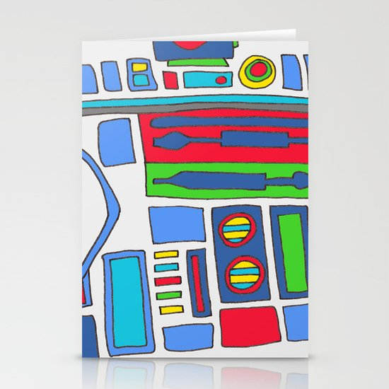 cool boys like epic droids Stationery Card