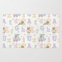Teddy Bear Alphabet ABC'… Rug