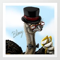The Fancy Ostrich Art Print