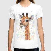 giraffe T-shirts featuring Giraffe Baby by Olechka