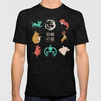 House of Miyazaki Mens Fitted Tee Tri-Black SMALL