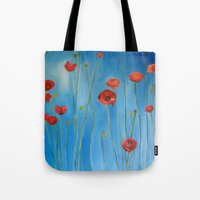 Blue Poppies Tote Bag