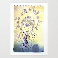 Amahdahy Spirit Art Print