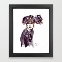 Fashion Sketches In Mixe… Framed Art Print