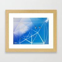 Gulls In Hexagram Flight Framed Art Print