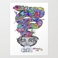 uninstalling my mind  Art Print