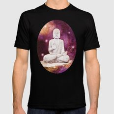 BUDDHA | Red Lights Black Mens Fitted Tee SMALL